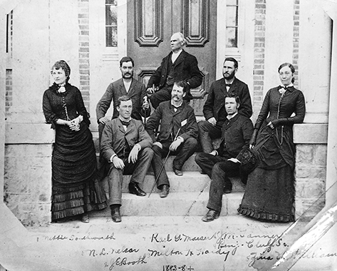 Zina P. Y. Williams and other faculty members of Brigham Young Academy