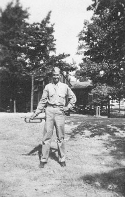 """""""Just as I turned my head to the right, I got the bullet."""" Jey Dell Butler, at a military training camp near Little Rock, Arkansas."""