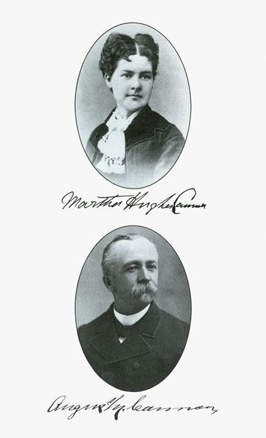 Martha Hughes Cannon and Angus M. Cannon