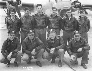 """""""We knew what we were fighting for! … We were fighting for freedom:"""" C. Grant Ash (front row, third from left) with his crew."""