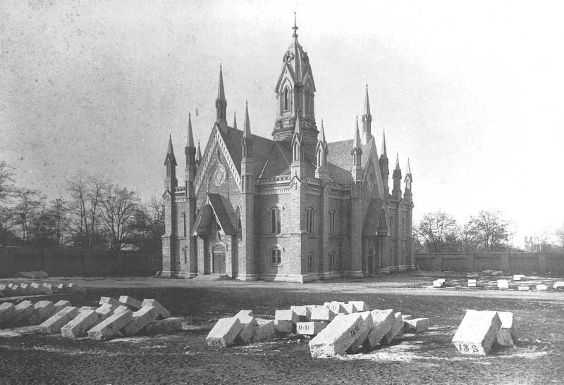 [p.112] 123. The Assembly Hall was built on the southwest corner of Temple Square between 1877 and 1882.