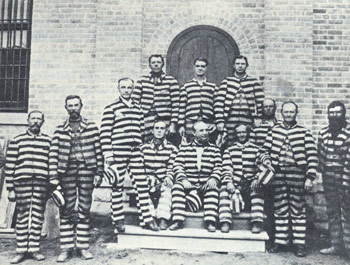George Q. Cannon (center, front row) at the territorial penitentiary. Photograph courtesy Utah State Historical Society.