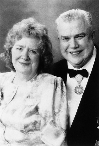 Marie Longley and Bob Kleasen