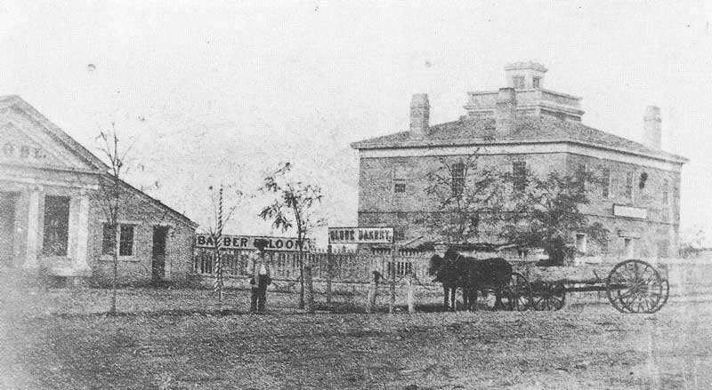 138. The old Council House at the corner of South Temple and Main streets was built in 1850 and pre-dates Carter's arrival in Utah. Fortunately, he photocopied many old pictures, thus preserving them for history.