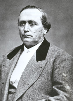 Erastus Snow (1818-88), an LDS apostle, helped to colonize the churchxs southern settlements in Utahxs Dixie.