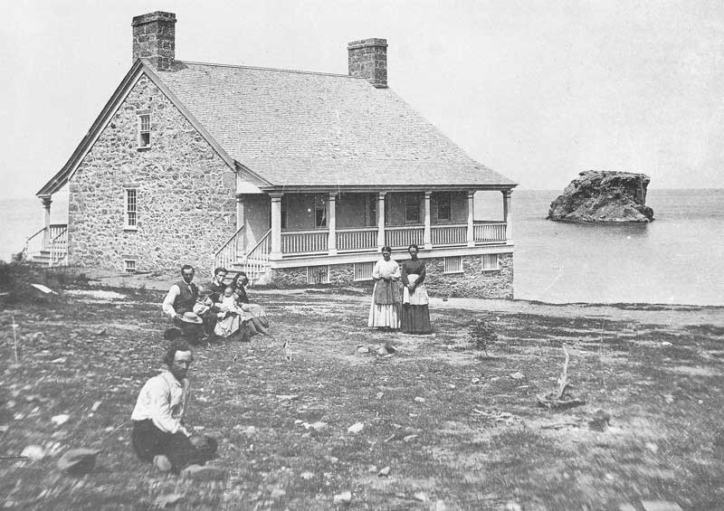 [p.149] 155. A rock house on the south shore of the Great Salt Lake was a fashionable summer retreat home near Black Rock about 1874 when the lake was at its highest level.