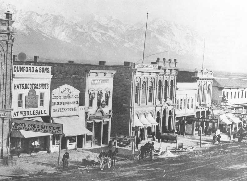 [p.151] 158. Carter's View Emporium in 1868 was located on the east side of East Temple Street, three doors down from the Western Union Telegraph Office.