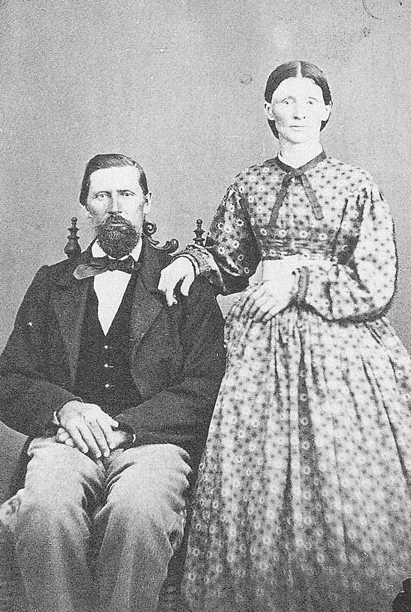 162, 163. The only evidence of the Sutterley Bros. business in Great Salt Lake City are cartes-de-visites taken between 1865 and 1868, like this unidentified couple (left). Sutterley Bros.' logo is on the right.