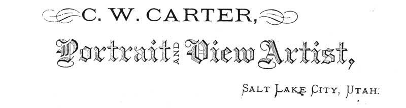 [p.160] 170. One of many Carter logos that appeared on the back of his photographs.