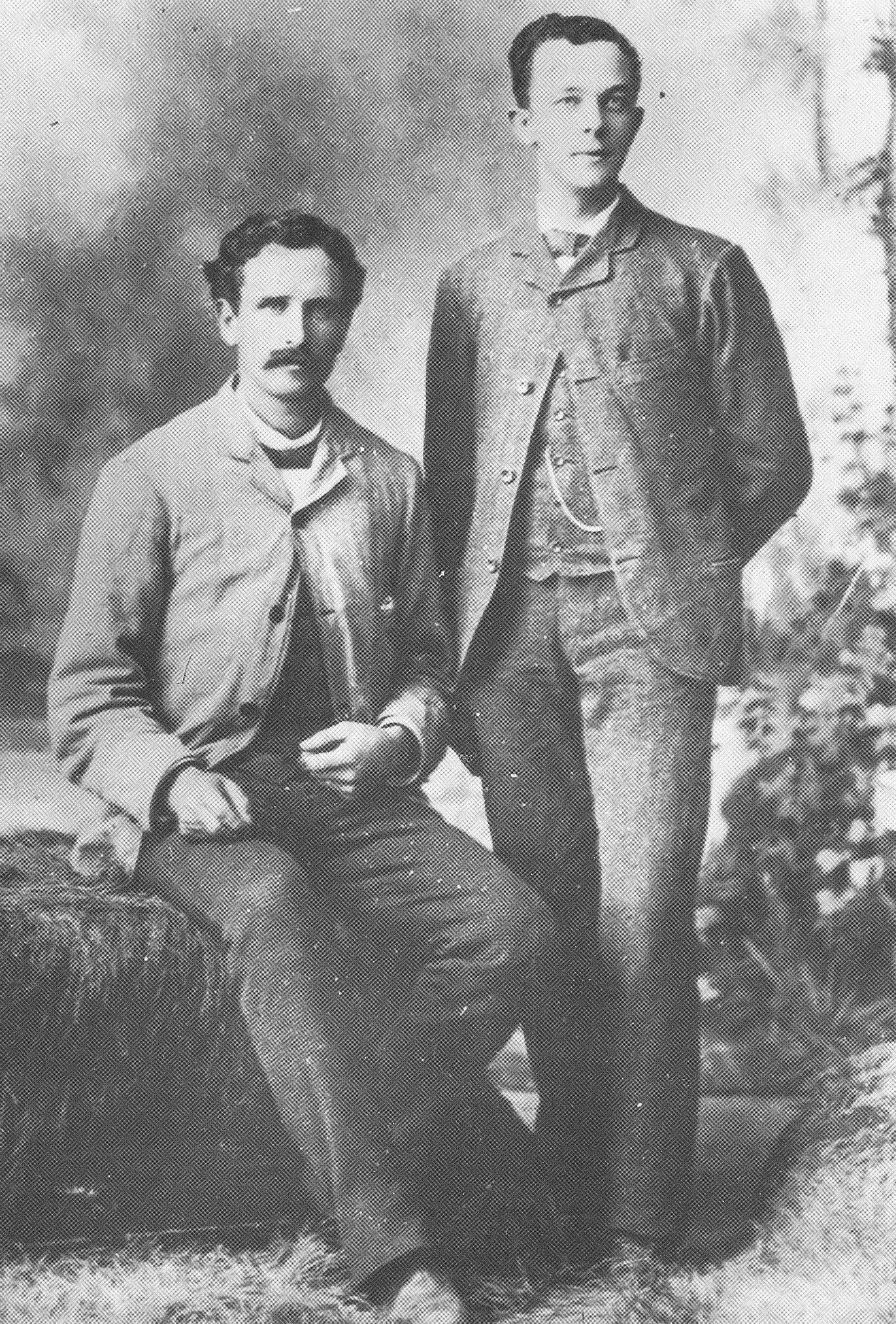 [p.176] 184. George Edward Anderson and John F. Bennett as young men while working as apprentices in C. R. Savage's Pioneer Art Bazar.