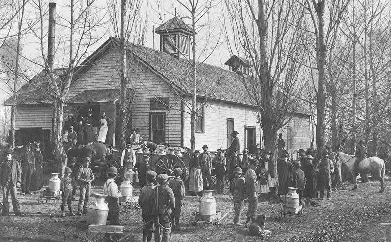 [p.179] 187. People of Richfield line up for the opening of a creamery in the 1880s.