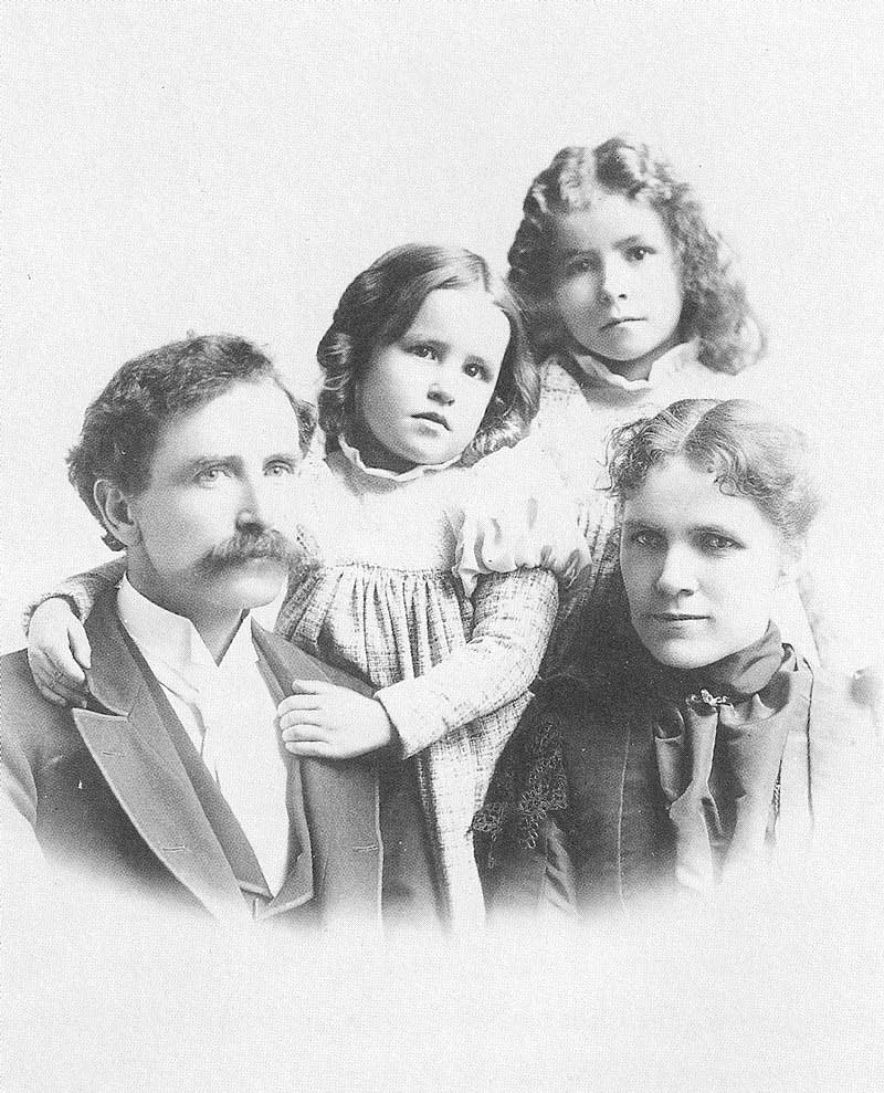 [p.196] 207. The Anderson family around 1896. Left to right are George Edward, Edda, Eva, and Olive. A son, George Lowry, was born in 1903.