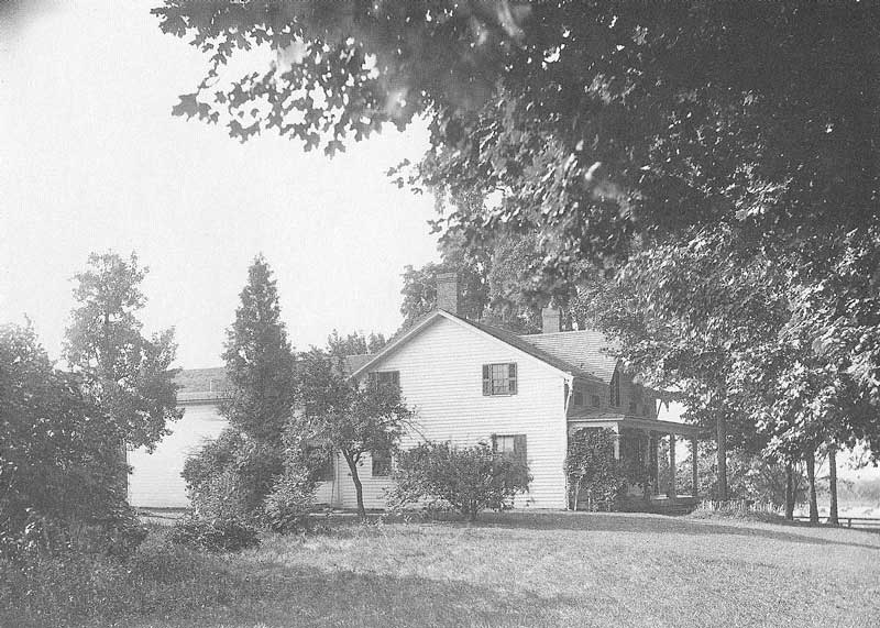 232. The Joseph Smith home in Manchester, New York, is photographed by Anderson in 1907, shortly after it was renovated by the Mormon church as a historic site.