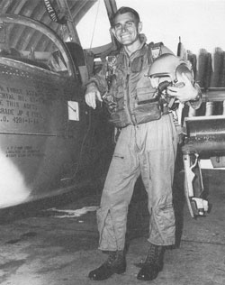 """""""I looked out the right side. Half of my wing was gone, cut right in half. My gas was flowing out and I knew there was no way I was going to make it home."""" David Folkman"""