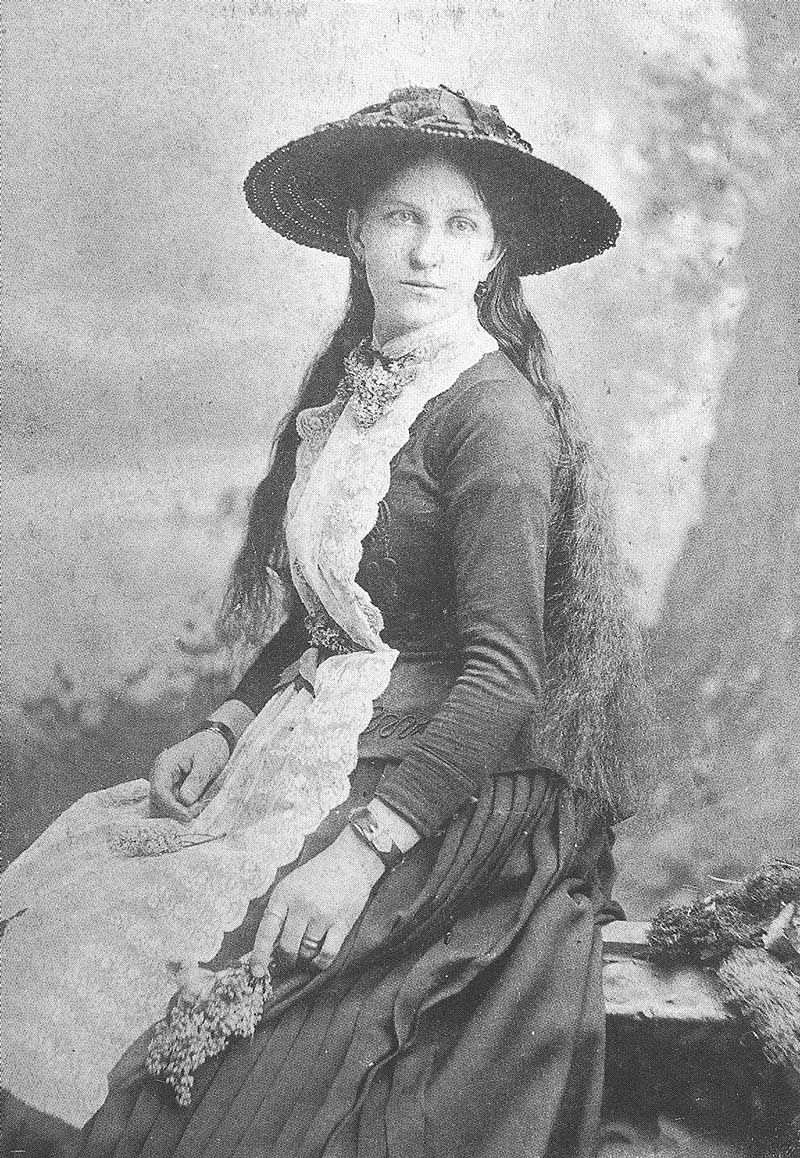 242. Millie Bassett Crockwell is photographed in Crockwell's gallery in 1884, about the time the photographer went into partnership with William Ottinger, son of C. R. Savage's partner, George Ottinger. This was one of Crockwell's favorite portraits.
