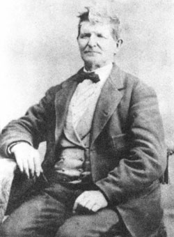 John D. Lee (1812-77), southern Utah colonizer and Indian agent, played an important role in the tragic Mountain Meadows Massacre of 1857. Excommunicated from the LDS church, he was later tried by civil courts and executed.