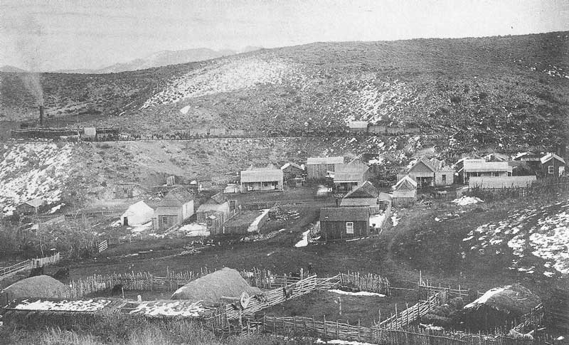 252. The town of Bullion, Nevada, from a nearby hillside. Crockwell set up a tent gallery here in the fall of 1886.