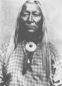 Chief Washakie (1804?-1900), for sixty years chief of the Shoshone Indians in the Wyoming-Utah-Idaho area, was a friend of Brigham Young, Jim Bridger, and General Albert Johnston.