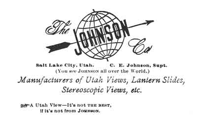 [p.270] 277. Johnson's logo prior to the turn of the twentieth century, when he was producing landscape views, albums, lantern slides, and stereographs.