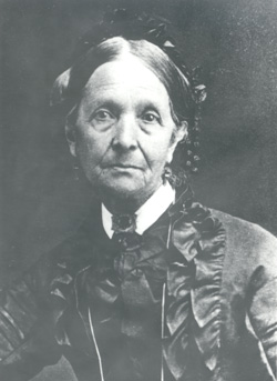 Eliza R. Snow (1804-87), a plural wife of both Joseph Smith and Brigham Young, was a prolific writer who served as president of the Female Relief Society from 1867 until her death.