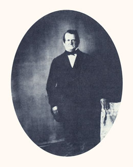 Orson Hyde was an Apostle and dedicator of Palestine for the return of Jews. Photograph courtesy LDS Church Archives.