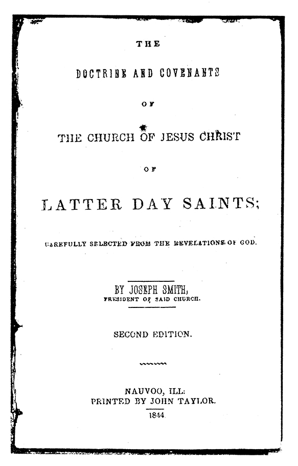 [p.290] Title Page of 1844 Doctrine and Covenants