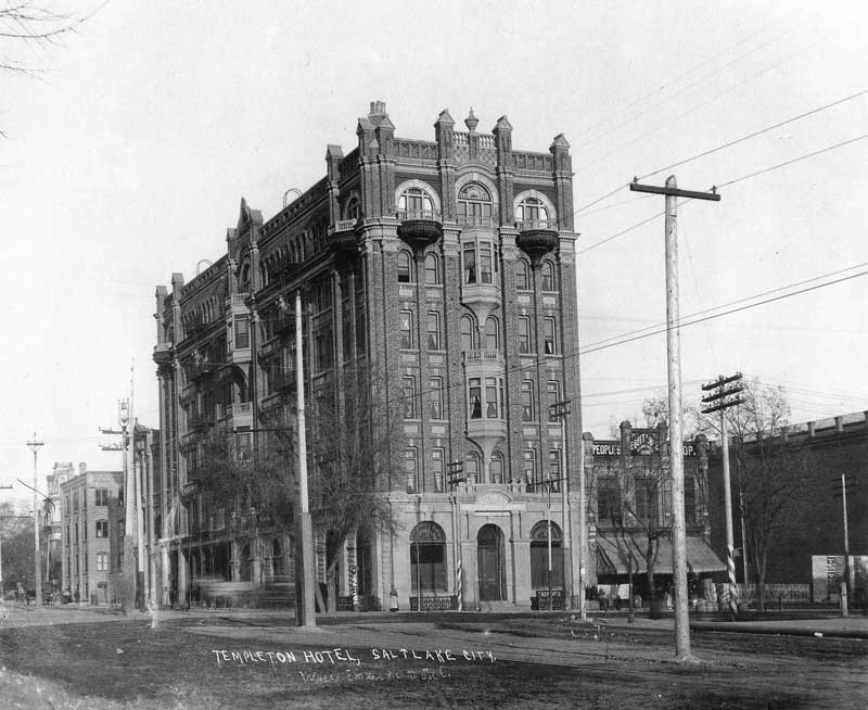 [p.296] 301. The Templeton Hotel is on the southeast corner.