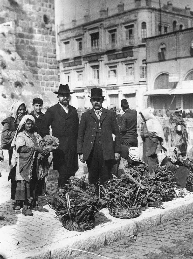 [p.300] 304. Mormon missionaries on the streets of Jerusalem in 1903.