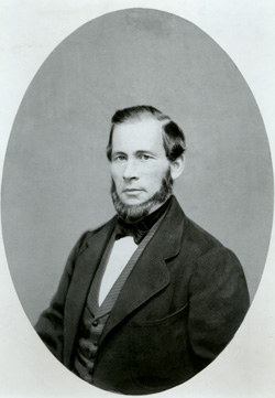 Perry E. Brocchus, a Utah territorial associate justice, opposed plural marriage, wrote a report to superiors in Washington, D.C., critical of the Mormons, and later left the territory with other xrunaway officialsx because of xMormon persecution.x