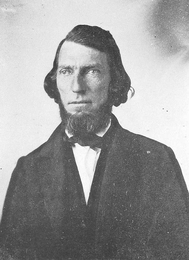 [p.32] 42. Judge Daniel Wells is still a young man in this ca. 1859 ambrotype.