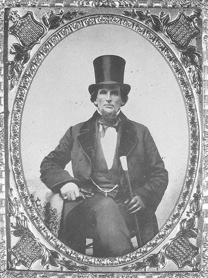 43. Another unknown man wears a top hat in this ambrotype held by the Daughters of the Utah Pioneers.
