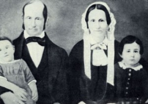 Heber and Vilate Kimball with children. Photograph courtesy Utah State Historical Society.