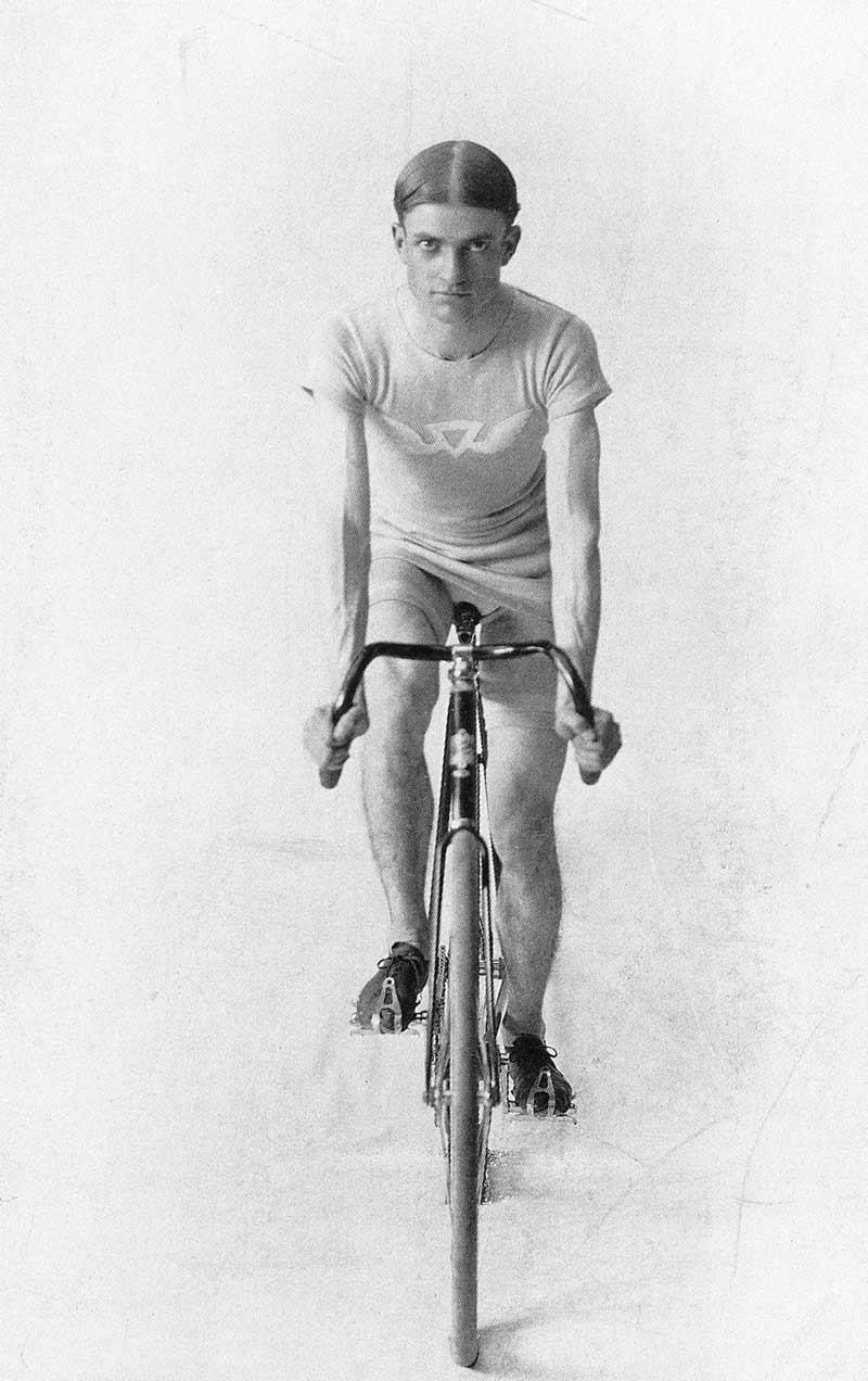 326. Harry Shipler was an avid bicyclist. He is pictured here sometime around 1898, when as a news photographer he peddled to Park City to cover a fire that nearly razed the mining town.