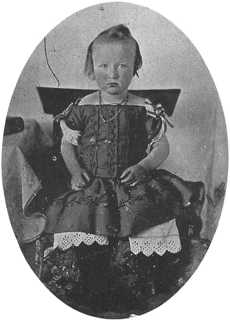 44. A small child poses stiffly for this ambrotype portrait in the late 1850s.
