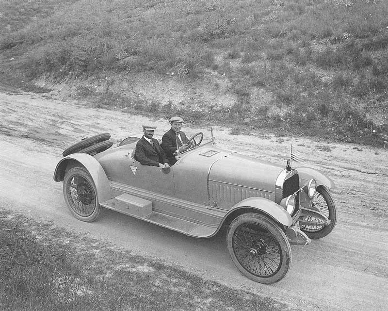 336. Harry Shipler and Frank Botterall, owner of the Hudson/Dodge dealership in Salt Lake City, embark on a trip from Salt Lake City to Grand Canyon, Arizona, in an open Hudson Super Six roadster. They will make the trip in a single day.