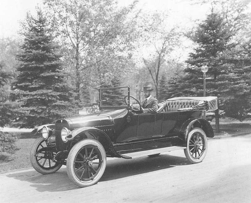 [p.347] 340. Harry Shipler loved automobiles He is photographed behind the wheel of a new Hudson Super Six Phaeton about the time he assumed management of Shipler Photo in 1912.