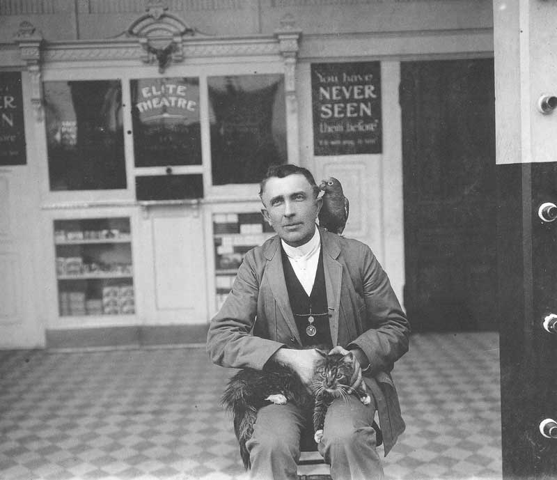 [p.354] 346. Max Florence, who owned several motion picture theaters in Salt Lake City, is photographed in front of one of his establishments by Charles Ellis Johnson around 1908.