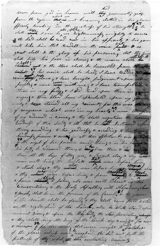 [p.358] 5. Book of Commandments manuscript page 119. Courtesy Library-Archives, Reorganized Church of Jesus Christ of Latter Day Saints, Independence, Missouri.