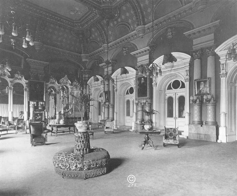 [p.367] 359. The Celestial Room is the largest and most richly furnished of all the rooms in the temple. This view looks east toward the portals leading to the sealing rooms. Photograph by Ralph Savage for The House of the Lord.