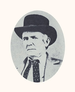 John D. Lee was a Danite and Mountain Meadows Massacre leader. Photograph courtesy LDS Church Archives.
