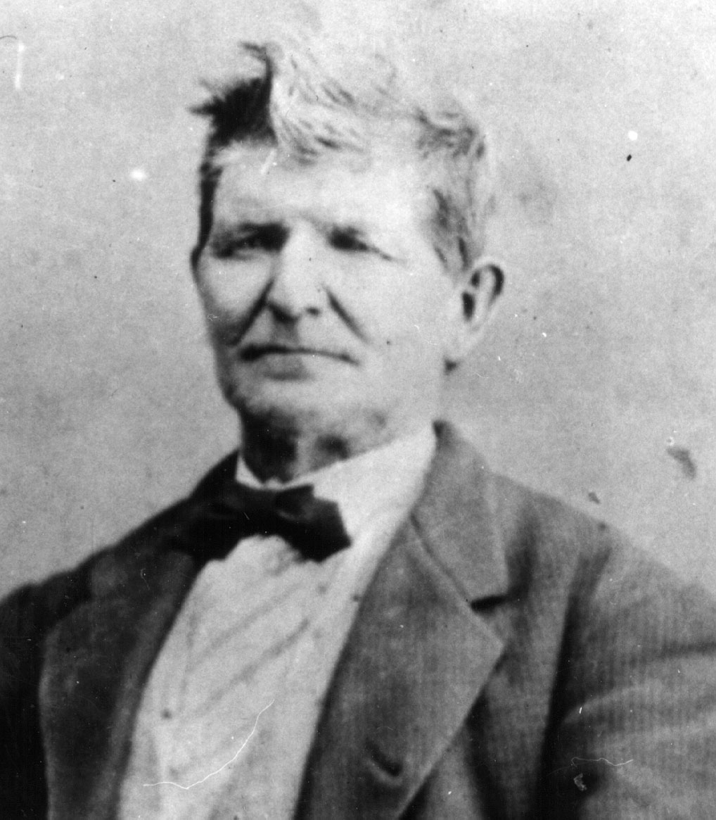"""Center of my heart boys. Don't mangle my body."" John D. Lee executed on 23 March 1877. Courtesy Utah State istorical Sociity."