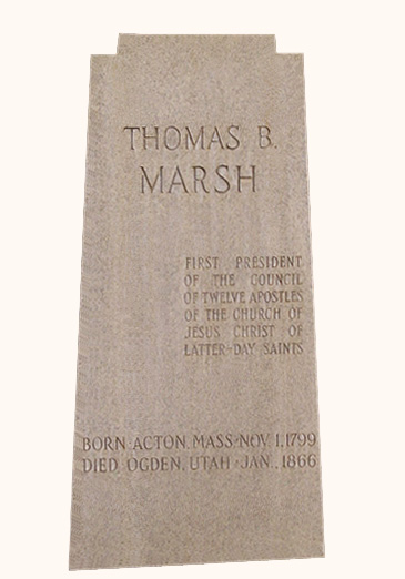 Thomas B. Marsh was the first president of the Quorum of the Twelve. There is no known photograph of him.