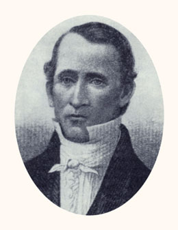 Edward Partridge was the first bishop of the Church. Photograph courtesy LDS Church Archives.
