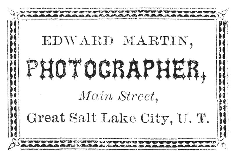 [p.48] 56. Edward Martin's logo on the back of his cartes-de-visite.