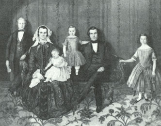 Orson and Sarah Pratt with children, courtesy Daughters of Utah Pioneers.