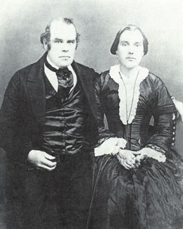 Parley P. Pratt and wife Elizabeth Brotherton, courtesy LDS Church Archives.