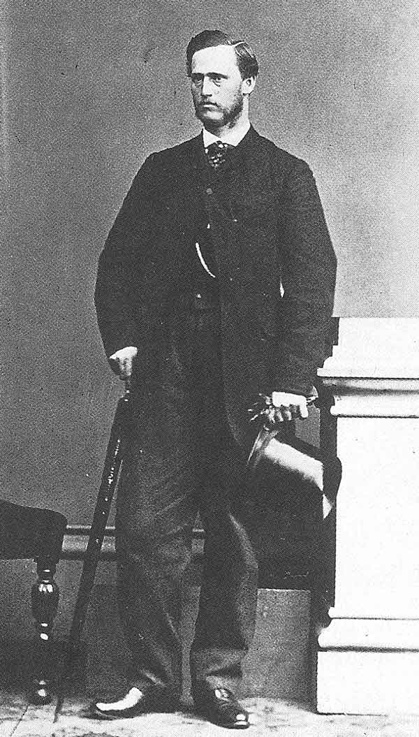 65. Joseph Angell Young is pictured in a photographic studio in London on his mission, shortly before he traveled home to Utah.