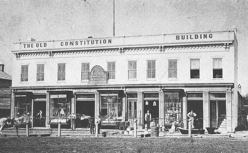 79. The Old Constitution Building in downtown Salt Lake City housed Utah's first mercantile cooperative, later known as Zion's Cooperative Mercantile Institution (ZCMI).