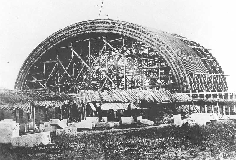 [p.72] 81. An early Savage view of the Tabernacle under construction was taken a few years after Savage set up his gallery on East Temple Street.