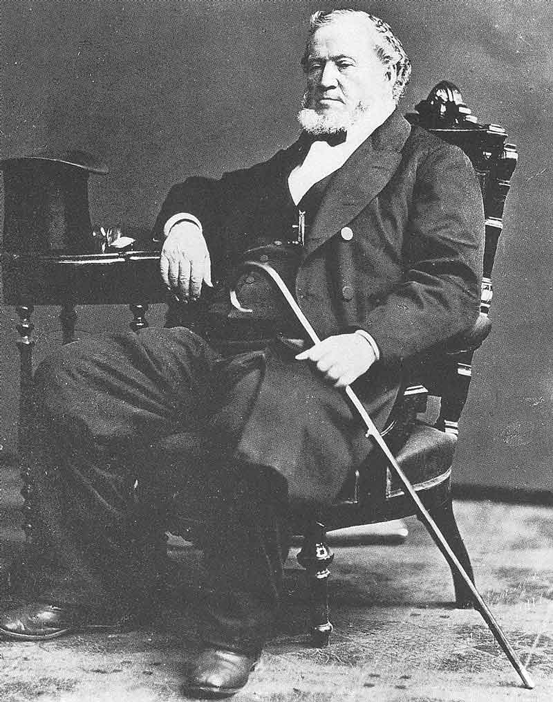 85. Savage photographed most of the general authorities of the Mormon church, including all of the presidents from Brigham Young to Joseph F. Smith. This photograph is probably the most popular view of Brigham Young, taken by Savage in the twilight of the Mormon prophet's life.
